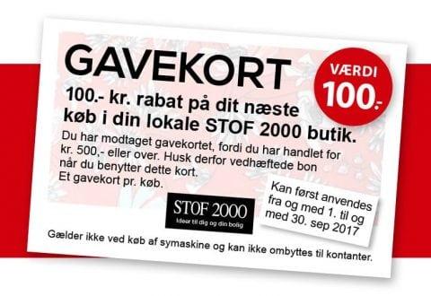 100 kr. til stoffer