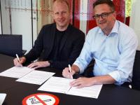Brian Skov og Mogens Hagelskær. Foto: Odense Letbane