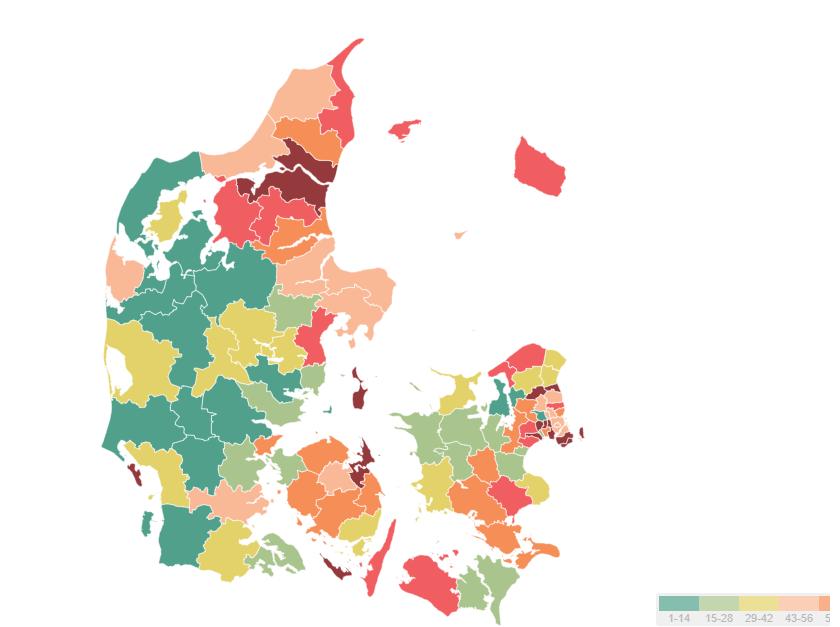 Kommunernes erhvervsvenlighed 2019